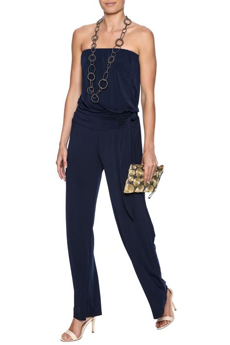 Navy Jumpsuit By Vierra Shop m navy jumpsuit from atlanta by sole shoes