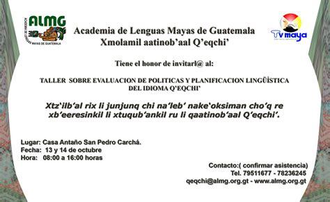 Calendario Q Eqchi El Diario De Victor Maquin Taller 252 237 Stico Q Eqchi
