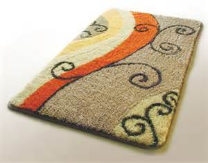 Bathroom Throw Rugs Flourish Swirls Throw Rug Decorative Bathroom Area Rugs Decor4u