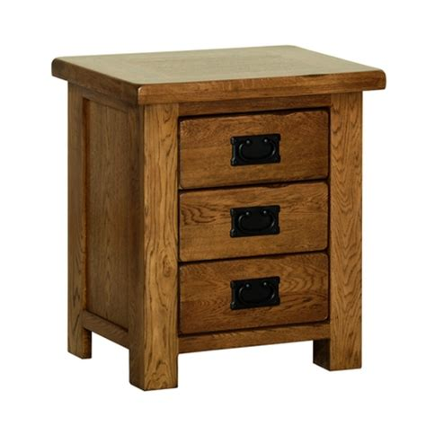 Small Bedside Tables With Drawers by Country Oak Small 3 Drawer Bedside Table Quality Oak