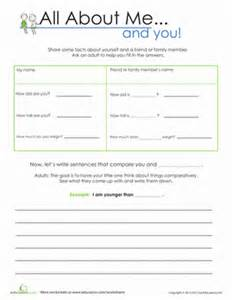 all about me, and you! | worksheet | education.com