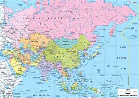 map of asai political map of asia ezilon maps