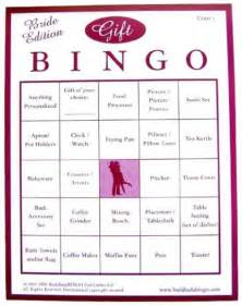bridal shower gift bingo for 50 guests from