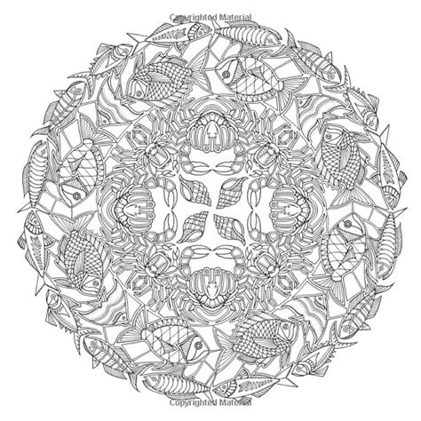 ocean mandala coloring pages lost ocean an inky adventure and coloring book johanna