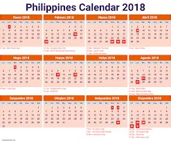 2018 Calendar Philippines With Holidays 2018 Calendar Printable Templates Blank Calendar
