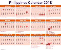 Calendar 2018 Philippines With Holidays 2018 Calendar Printable Templates Blank Calendar