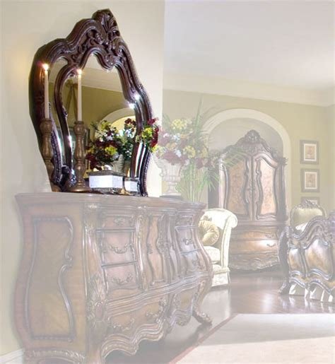 chateau beauvais bedroom set aico dresser mirror chateau beauvais ai 75060 39
