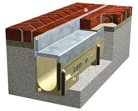 acousa slot french drain   profile brick pavers