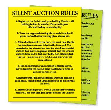 silent auction catalog template silent auction sheet bidding steps kiefer