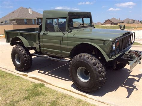 jeep truck lifted lifted jeep hummer m715 military rock crawler truck