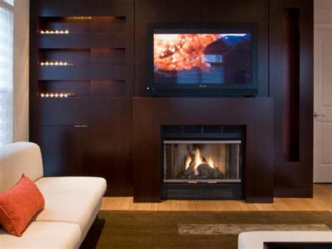 tv fireplace ideas an overview of options
