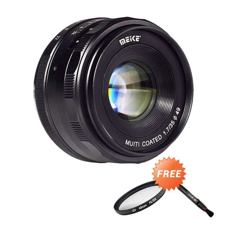 Tutup Lensa Sony A5000 jual meike mk 35mm f 1 7 manual focus lensa kamera for sony e mount nex7 a6300 a5000 a5100 a6000