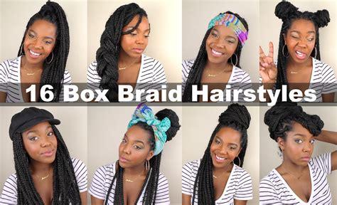 easy hairstyles for short box braids 16 box braid hairstyles quick easy natural hair