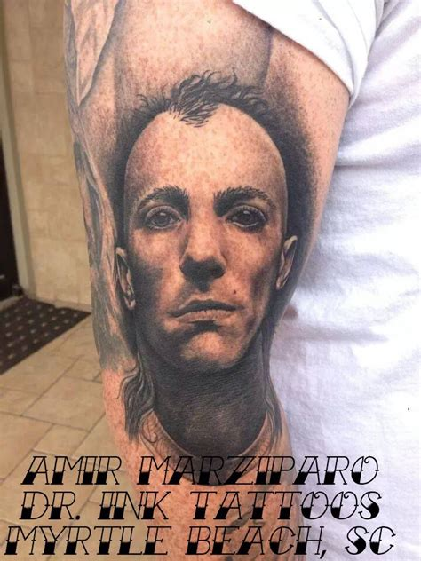 maynard james keenan tattoo amazing black and gray portrait of maynard keenan
