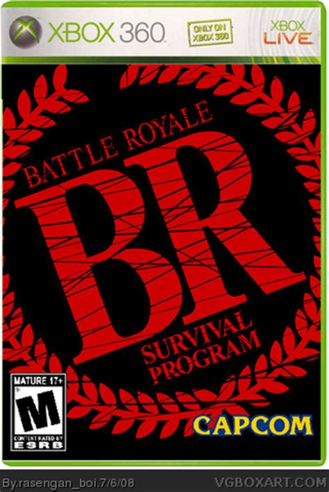 royale xbox 360 battle royale survival program xbox 360 box cover by