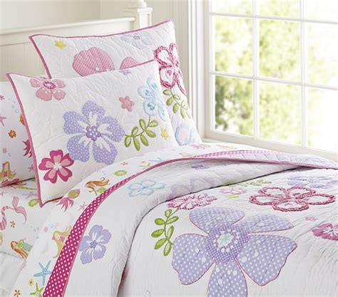 pottery barn kids comforter hibiscus quilted bedding pottery barn kids