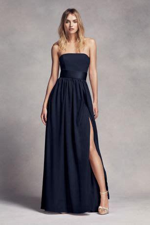 strapless bridesmaid dress with belt davids bridal