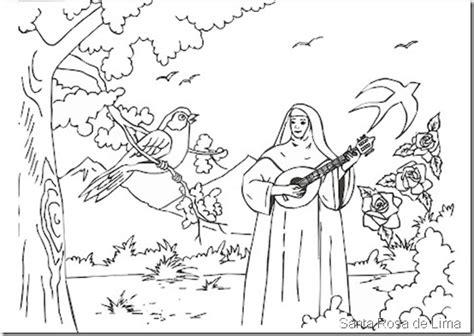 imagenes para colorear a santa rosa de lima dibujos de santa rosa de lima para colorear dibujos para