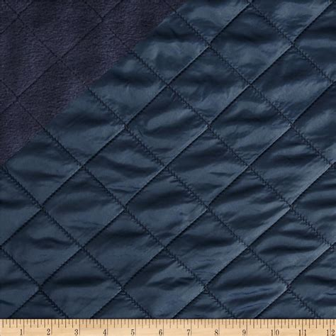 The Quilted by Fleece Backed Quilted Navy Discount Designer