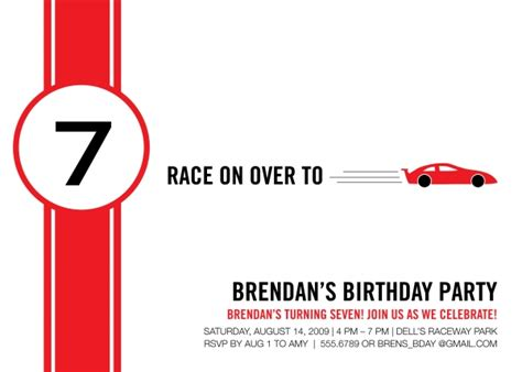 race card template best photos of racing birthday invitation cards