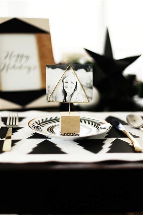 diy gold place card holders kristi murphy diy ideas diy christmas tree place cards holders kristi murphy
