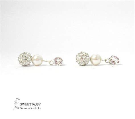 Hochzeit Ohrstecker Ohrringe Ohrringe Perlen by Brautschmuck Ohrringe Perlen Bappa Info