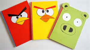 diy design angry birds diy designer notebook covers tutorial back
