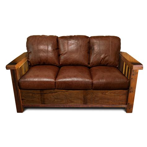 rustic furniture sofa rustic barnwood sofa
