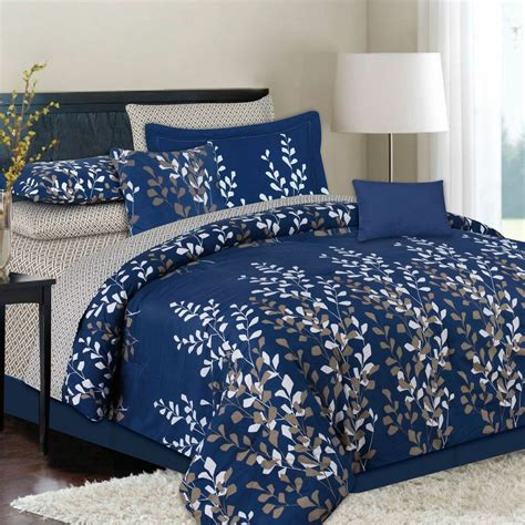 Navy Bed by King Or 10 Navy Blue Bed In A Bag Comforter