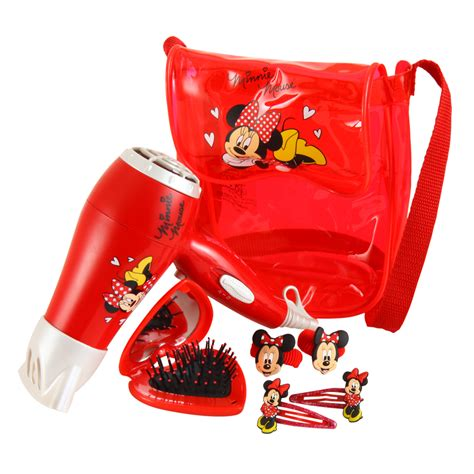 Minnie Mouse Hair Dryer disney minnie sleepover kit