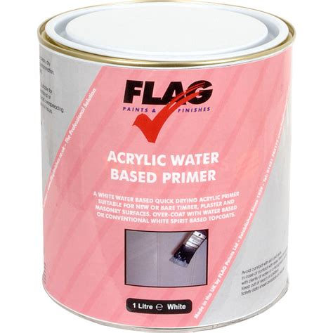 Acrylic Water Based Primer Paint White 1l Toolstation