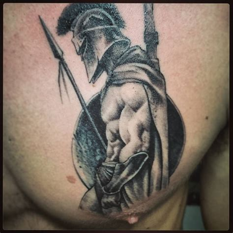 the wasted spartan on a chest vlad biella chesttattoo