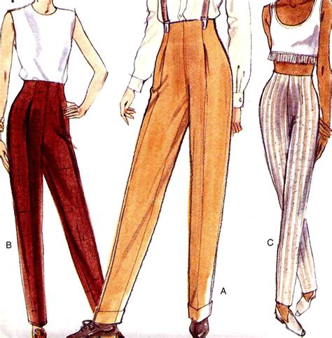 pattern high waisted jeans vogue 9203 high waist tapered pants easy sewing pattern waist