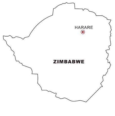 printable images of great zimbabwe zimbabwe map coloring