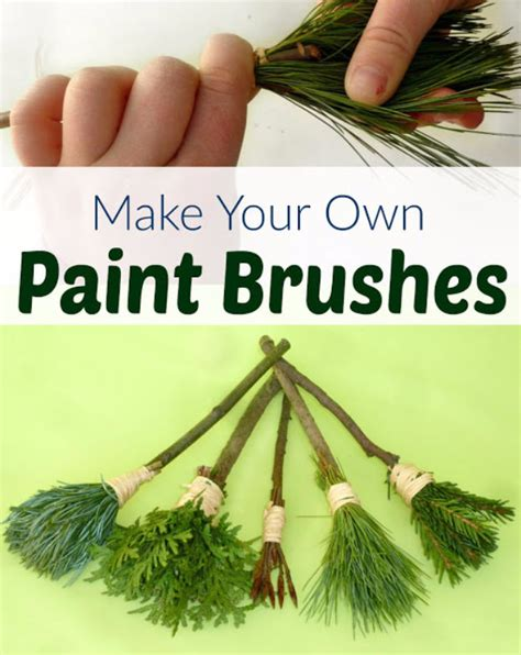 how to go about building your own home nature paint brushes for kids pictures photos and images