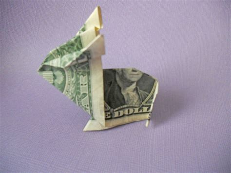 Money Origami How To - learn how to make a crafty origami bunny out of