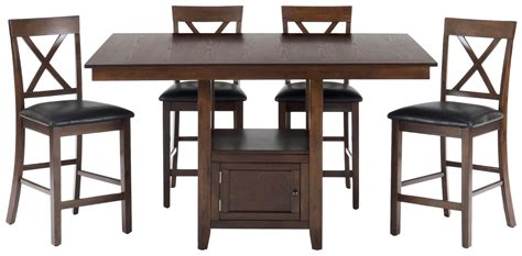 5 Counter Height Dining Set With Stools by 5 Casual Counter Height Pedestal Table X Back