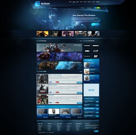 blue gaming template 2014 for sale by boriswick on deviantart