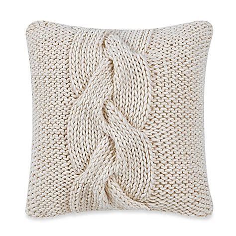 knit throw pillow real simple 174 knit square throw pillow in bed