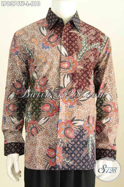 Jual Baju Ripcurl Asli jual baju batik pria lengan panjang pakaian batik kerja dan rapat furing motif mewah tulis