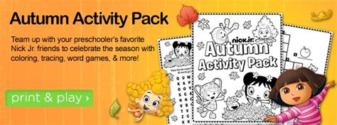 fall coloring pages nick jr fall printables from nick jr printables pinterest