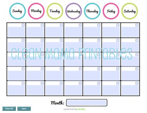 Free Fillable Calendar Template by Editable Circle Perpetual Calendar