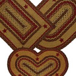 Country Star Rug Braided Rug Cinnamon Star Jute Country Primitive Ihf Ebay