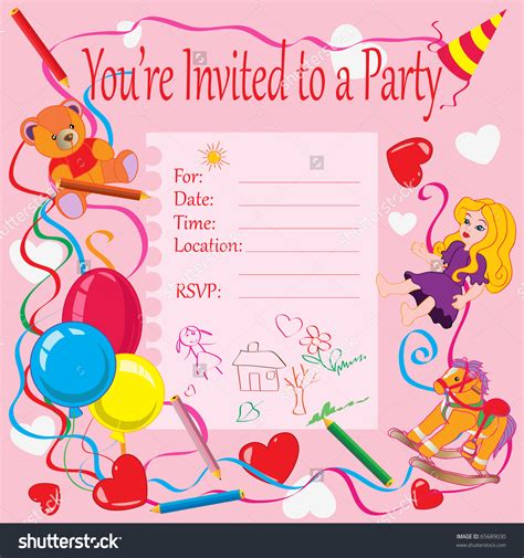 Birthday Card Invitations Birthday Party Invitation Cards For Kids Festival Tech Com