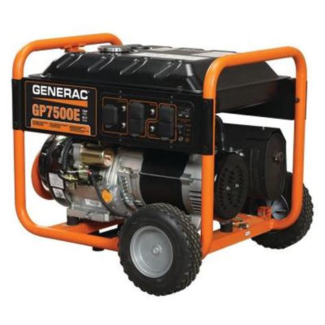 generac 7 500 watt gasoline powered electric start