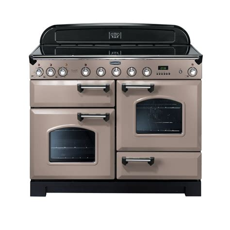 electric induction range cookers rangemaster classic 110 deluxe electric induction range cooker latte