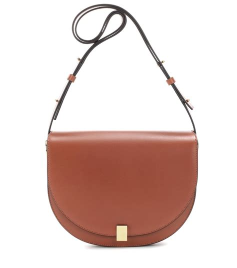 Bekham B532 Bag In Bag Kancing lyst beckham half moon leather shoulder bag in brown