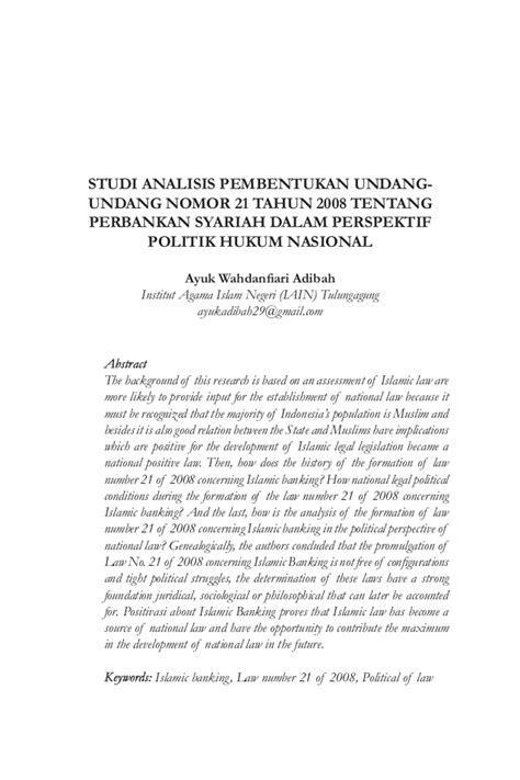 Undang Undand Tentang Perkawinan Kompilasi Hukum Islam studi analisis pembentukan undang undang nomor 21 tahun 2008 tentang