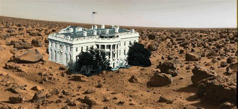 Mars In House by Random Perspective White House On Mars