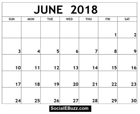 printable june 2018 calendar june 2018 calendar printable template with holidays pdf usa uk